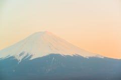 Mt Fuji rises above Lake Kawaguchi. Japan stock photography