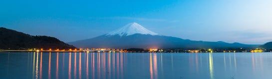 Mt Fuji rises above Lake Kawaguchi. Of Japan stock photo