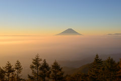 Mt.Fuji and Sea of clouds in the early morning Royalty Free Stock Images