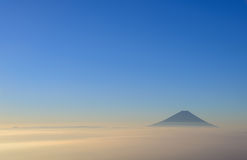 Mt.Fuji and Sea of clouds in the early morning Royalty Free Stock Photos