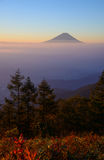 Mt.Fuji and Sea of clouds in the early morning Stock Photo