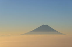 Mt.Fuji and Sea of clouds in the early morning Royalty Free Stock Image