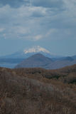 Mt. Fuji seen from Hokkaido, Japan Stock Photo