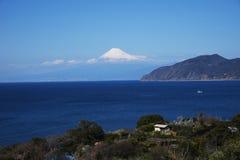 Mt.Fuji. Seen from Izu Peninsula,Shizuoka Prefecture Japan stock images