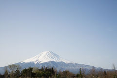 Mt. Fuji Seen From Kawaguchi Lake Royalty Free Stock Photos