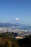 Mt. Fuji and Shimizu Port Royalty Free Stock Photo