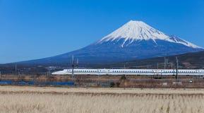 Mt Fuji Shinkansen i Tokaido Obraz Stock
