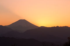 Mt. Fuji sumset Royalty Free Stock Images