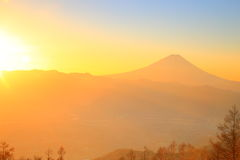 Mt. Fuji with sunrise Stock Photography