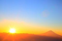 Mt. Fuji with sunrise Stock Photo