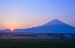 Mt.Fuji and Sunrise Stock Photo