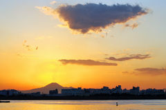Mt.Fuji sunset Stock Photos