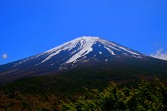 Mt. Fuji from the 5th station `Okuniwa` Yamanashi Prefecture Japan Royalty Free Stock Photography
