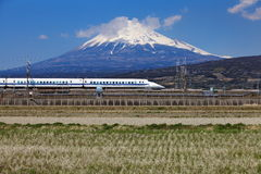 Mt Fuji and Tokaido Shinkansen Royalty Free Stock Photos