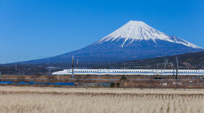 Mt Fuji and Tokaido Shinkansen Stock Image