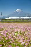 Mt Fuji and Tokaido Shinkansen Royalty Free Stock Photography