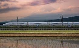 Mt Fuji and Tokaido Shinkansen Stock Image
