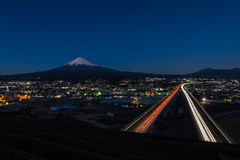 Mt. Fuji with Tomei highway Royalty Free Stock Photography