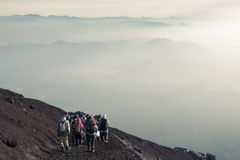 Mt.Fuji trail Royalty Free Stock Photography