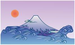 Mt Fuji und Ozean vektor abbildung