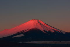 Mt. Fuji via Lake Yamanaka Stock Photography
