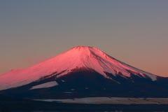 Mt. Fuji via Meer Yamanaka Royalty-vrije Stock Fotografie