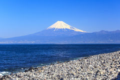 Mt. Fuji view from Cape Mihama Royalty Free Stock Images