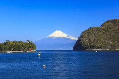 Mt. Fuji view from Heda port Royalty Free Stock Images