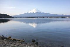 Mt Fuji. View of Mt Fuji from lake Kawaguchi stock image