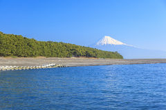 Mt. Fuji view from Mihonomatsubara Royalty Free Stock Photos