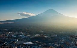 Mt. Fuji viewed from Kawaguchiko Tenjoyama Park Stock Photo