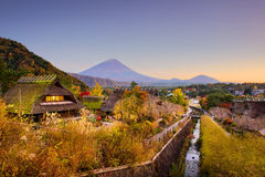 Mt. Fuji and VIllage Stock Photography