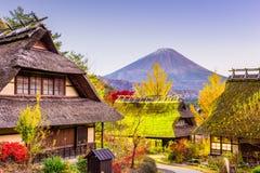 Mt. Fuji and Village Royalty Free Stock Image