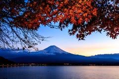 Mt.Fuji. In Winter at Lake Kawaguchiko Stock Photo