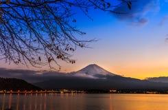 Mt.Fuji. In Winter at Lake Kawaguchiko Royalty Free Stock Photography