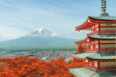Free Mt. Fuji With Fall Colors In Japan. Stock Image - 57013261