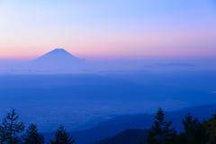 Mt Fuji y mar de nubes Fotografía de archivo