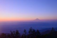 Mt Fuji y mar de nubes Imagen de archivo