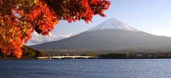 Mt. Fujiin Autumn Stock Photos
