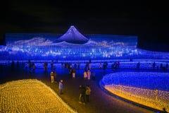 MT Fujileiden in tuin van Nabana geen Sato-park, Nagoya, Japan stock foto