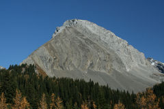 Mt Galatea, showing thrust faults Stock Photography