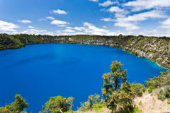 Mt Gambier. The incredible Blue Lake at Mt Gambier, South Australia Stock Photos