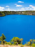 Mt Gambier. The incredible Blue Lake at Mt Gambier, South Australia Royalty Free Stock Photography