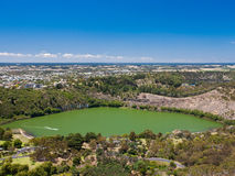 Mt Gambier. View from Centenary Tower, Mt Gambier, South Australia Stock Photos