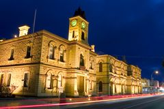 Mt. Gambier Townhall. Historic City Townhall Royalty Free Stock Photo