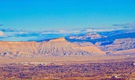 Mt Garfield och den storslagna dalen royaltyfria bilder