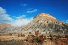 Mt Garfield w pogodnym spadku ranku zdjęcia stock
