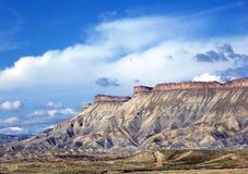 Mt. Garfield y el Bookcliffs Fotografía de archivo libre de regalías