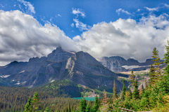MT-Glacier National Park-Grinnell Glacier trail. This image was captured on the steep and spectacular Grinnell Glacier Trail royalty free stock image