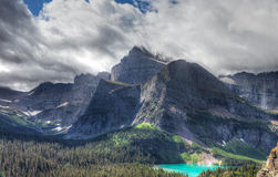 MT-Glacier National Park-Grinnell Glacier trail. This image was captured on the steep and spectacular Grinnell Glacier Trail royalty free stock photo